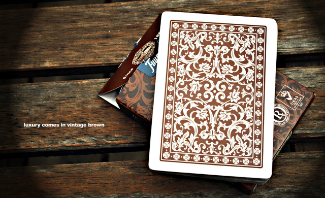 Brown and Green Fournier playing cards - high quality